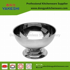 stainless steel ice cream cup snack bowl