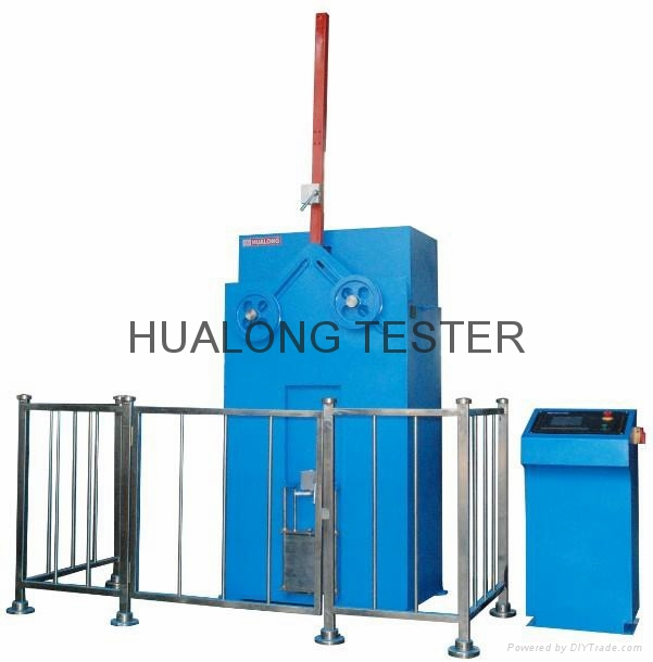 Optical fiber cable tensile & crush testing machine 4