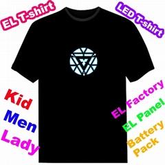 EL Luminous Iron Man 3 T-shirt EL Flashing T-shirt EF236