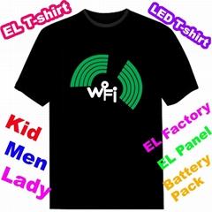 EL T-Qualizer Shirt,EL Equalizer T-shirt,Electroluminescent Panel T-shirt