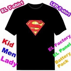 Led T-shirt EL T-qualiser T-shirt Light t-shirt EF228