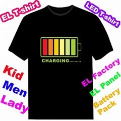 Flash T-shirt EL light T-shirt T-qualiser T-shirt