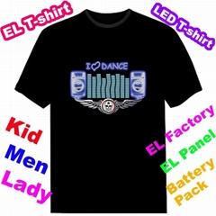 EL Sound Activated T-shirt Luminous T-shirt Led T-shirt EF244