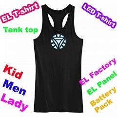 Glowing Iron Man 2 Tank Top EL light tank top EL T-shirt EF231