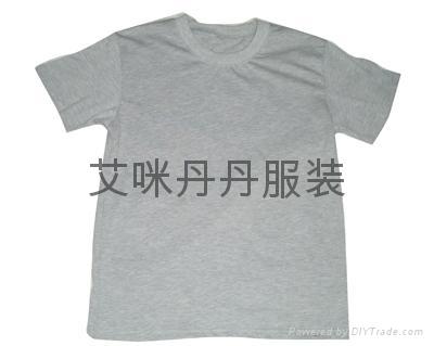 圆领全棉印花T恤  2