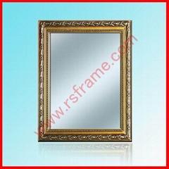 供应特价木质金色树脂花边镜框
