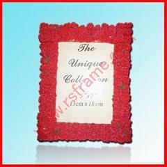 供应玫瑰模型红色树脂相框相架
