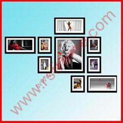 供应黑色创意时尚家居装饰组合相框墙