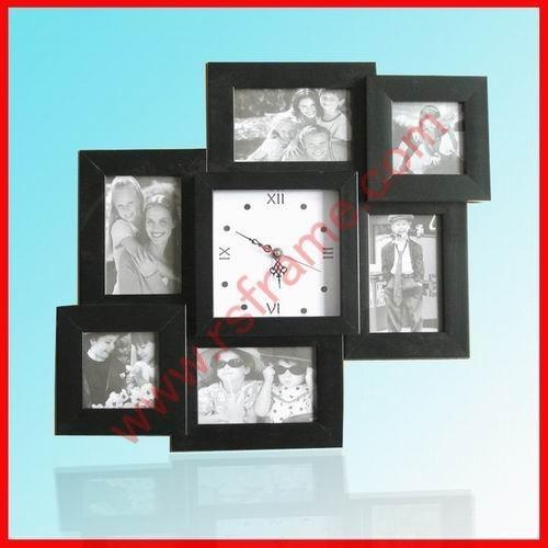 black collage photo frame with clock maker wholesales online - Photo Frames Online
