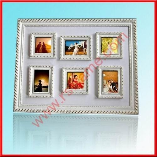 供應白色木製婚紗影樓創意組合相框 1