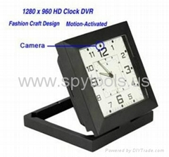 Clock with HD Motion Activated Hidden