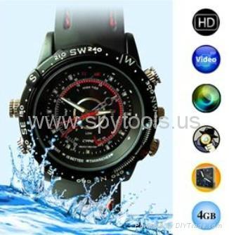 4GB HD Waterproof Spy Watch Camera Digital Video Recorder with Hidden Camera 1