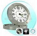 Table Clock Style Spy Pinhole Camera