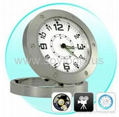 Table Clock Style Spy Pinhole Camera Digital Video Recorder with Web Camera
