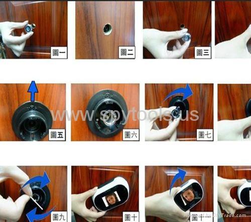 Digital Door Peephole Viewer 150 degrees Cam 2.5inch LCD 5