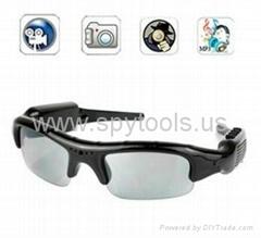 HD 1280*1024 Spy Sunglasses Camera DVR Video Recorder with Detachable Earphones