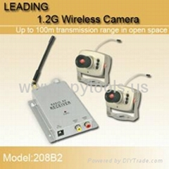 1.2GHz Security CCTV Wireless CMOS Color Video Camera and Video Receiver