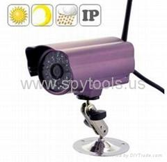 Outdoor Waterproof Wireless IP Camera 24LEDs Purple + Motion Detection Alert Wit