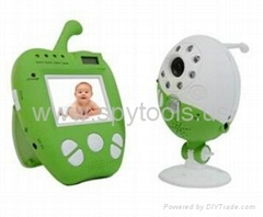 "2.4GHz 2.5"" LCD Apple Design Handheld Wireless Baby Monitor with Audio Video & N"