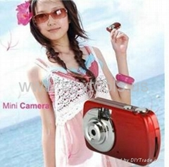 8 MP HD Video Recorder Mini Camera Red (PC Camera + Motion Detection)
