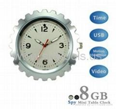 Metal Housing 8GB Spy Mini Table Clock