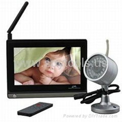 7 Inch Baby Monitor (1 Wireless Night Vision Camera + Remote Control)