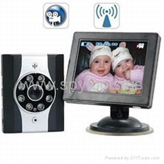 Wireless Car Baby Monitor with Night Vision + DVR - Safely Monitor your Baby
