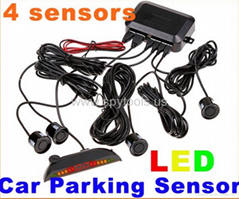 Car Parking sensor w/ Digital LED Display Parking Reverse Back up System Radar 4