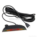 Car Parking sensor w/ Digital LED Display Parking Reverse Back up System Radar 4 5