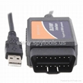ELM327 Interface OBD2 V 1.5 Auto Scanner USB OBD 2 II Car Diagnostic tool 4
