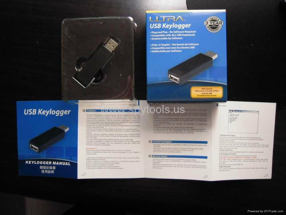 ULTRA USB Keylogger Undetectable Spy Hardware USB Keylogger