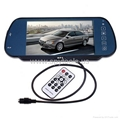 """7"""" Bluetooth Car monitor with USB SD With MP5 Color TFT LCD Car Rearview Mirror  2"""