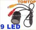 9 LED Car DVR Rearview Camera Car IR