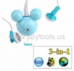 3-in-1 Mouse Head Shaped
