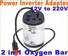 2 in 1 Car Auto 12V to 220V Power Inverter Adapter car charger