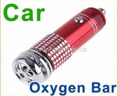 Auto Car Fresh Air Purifier Oxygen Bar Ionizer mini Red