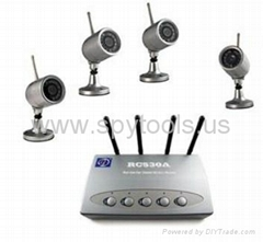 2.4G 4CH 4*Camera Digital Wireless CCTV Security camera/monitor Kit Waterproof N
