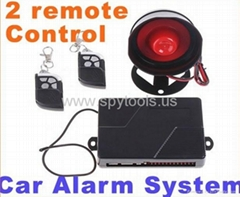 Auto Car alarm system Car Alarm with 2 Remote Control Engine