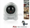 Dummy Decoy Dome Security Camera with Red Blinking LED