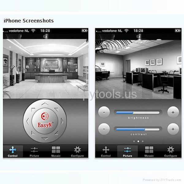 EasyN Webcam 2-Audio Nightvision WIFI Wireless IP Camera  5