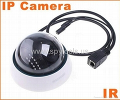 IP Camera Wired Serveillance IR NightVision Dome CCTV Camera