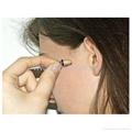 Micro-earphone is hidden deep inside the ear and sr416sw/337