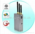 Silencer Portable Handheld Full Spectrum CDMA/GSM/3G Mobile Cellphone Signal Jam 1