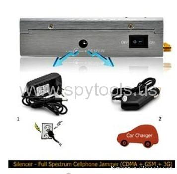 Silencer Portable Handheld Full Spectrum CDMA/GSM/3G Mobile Cellphone Signal Jam 4