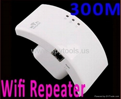Wireless-N Wifi Repeater 802.11N/B/G Network Router Range Expander 300M 2dBi Ant