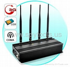TG-101A High Power Mobile Phone CDMA/GSM/3G Signal Jammer - Black