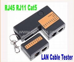 Cat5 Network LAN Cable Tester with KeyChain 9 LED