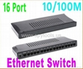 16 Port Fast Ethernet Switch Plastic