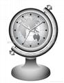 table clock hidden camera with worldmap