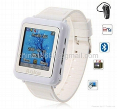 "Watch Cell Mobile Phone with Bluetooth + FM + 1.3"" Full Touch Screen + Camera"